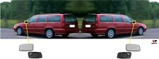 FOR VOLVO S70 / V70 96-01 WING MIRROR GLASS HEATED WITH FRAME PAIR SET L&R