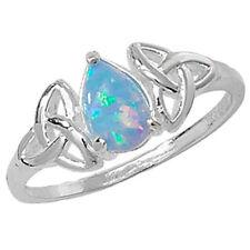 Anelli di lusso con gemme multicolori opale