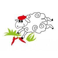 mouton piment logo6 autocollant voiture stickers 12 cm