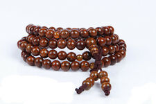 6mm Tibet Buddhism 108 Red star & moon Bodhi Seeds Mala Necklace