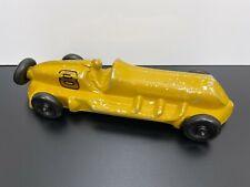 Vintage Original 1940s ROACH Golden #8 Aluminum Pusher TOY RACE CAR Automobile