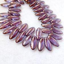 Brin de 50 perles en verre-un trou dagger beads crystal amy DAG51215726
