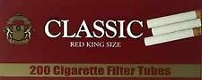 Classic Red Full Flavor King Size 200 Tubes Per Box Tobacco Cigarette (3-Boxes)