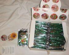 Rare Box with 40 Unopened Package approx Pogs BASU-RAZOS made in VENEZUELA/TAZOS