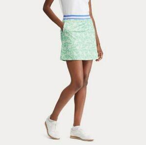New Polo Golf Ralph Lauren Women's Bow Print Skort Skirt Green Size S $148 NWT