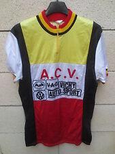 Maillot cycliste A.C.V VICHY AUTO SPORT vintage cycling jersey shirt années 80 M