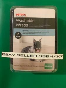 PETCO Washable male dog wrap size Medium 2 pack Brand New FAST Free Shipping