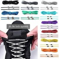 Elastic Silicone No Tie 'Lazy' Shoe Laces Shoelaces Trainers Shoes Adult&Kids