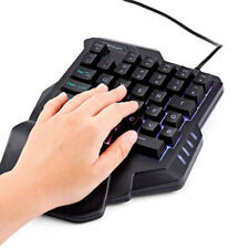 G30 for lol / pubg / Keypads cf game Wired LED Fingerboard Single Hand Keyboard-