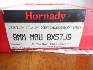 Hornady 8mm MAU 8x57 JS Custom Grade Reloading 2-Die Set Full Length -544382