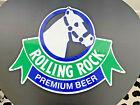 1992 Rolling Rock Beer Tin Metal Bar Sign HORSE Latrobe Brewing Bar Vintage NEW