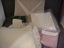 New Old Stock 5 Assorted Cross Stitch Fabric Forms and shapes