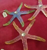 3 Starfish Ornaments By Katherine's Collection - Glistening Glass Ornaments!...