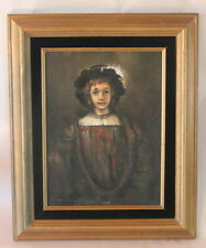 REMBRANDT Oil Painting Boy COPY SIGNED by Artist Canvas on board