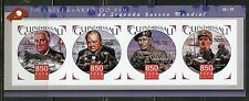 GUINEA BISSAU 2015 70th ANN END WW II CHURCHILL FDR deGAULLE MONTGOMERY SHT IMPF