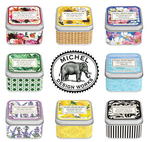 Michel Design Works ~ Soap On The Go in Tin ~ 2.4 oz ~ Free Ship ~ You Pick