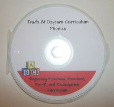Printable Kindergarten Phonics Curriculum CD-R.  Over 1,000 printable pages. New