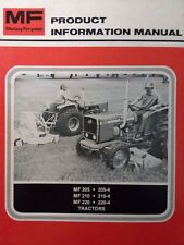 Massey Ferguson Mf 205 210 220 205-4 210-4 Tractor Product Information Manual