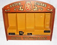 VINTAGE HENRI WINTERMANS GLASS FRONT DISPLAY CASE SHOP DISPLAY CIGAR ADVERITSING