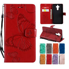 For Huawei Mate 7 8 9 10 3D Butterfly Wallet Flip PU Leather Stand Case Cover