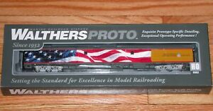 WALTHERS PROTO 920-9200 85' ACF BAGGAGE CAR UP HERITAGE UNION PACIFIC FLAG