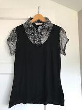 Ladies, black, George top, size 10