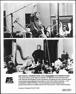 Paul McCartney Standing Stone Original 1990s A&E TV Promo Photo Classical