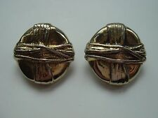 Women's vintage con clip-on earrings Gold Tone clip gioielli Bambù Design
