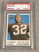 1959 TOPPS #10 JIM BROWN PSA EX 5 HOF