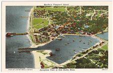 Martha's Vineyard Island, Aeroplane View of Oak Bluffs,Mass Vintage Postcard