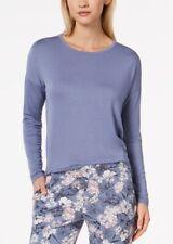 Alfani Knit Loose Pajama Top Vienna Blue Small