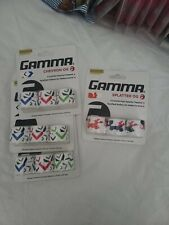 4 pack lot- Gamma Chevron Og, Splatter Tennis Overgrips, New