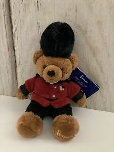 "New Harrods KT Guardsman Bear 10"" Bear's Day Out in London Plush Teddy Bear"