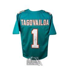 Tua tagovailoa autografiada Miami Dolphins Personalizado Camiseta De Fútbol-Bas certificado de autenticidad