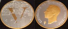 1945-2020 V-E Day 75th Pure Silver Proof Dollar $1 Canada Coin Victory Privy