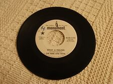 THE HERE AND NOW  WHAT A FEELING/I STILL CARE FOR YOU  MONUMENT 1153 PROMO
