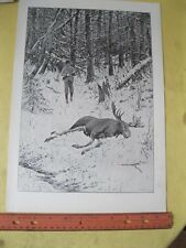 Vintage Print,WINTER STORES,AB.Frost,PF.Collier,Book of Drawings,1904