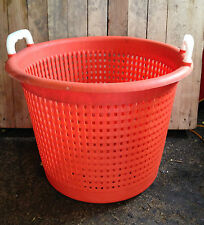 FISH BASKETS 44 LITRE ORANGE COTESI WITH HANDLES HEAVY DUTY NARROWBOAT