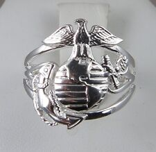 US MARINE CORPS USMC Licensed .925  SWEET HEART RING SIZE 10