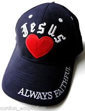 I HEART JESUS LOVE ALWAYS FAITHFUL EMBLEM LOGO BASEBALL CAP HAT
