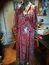 Vintage 80's silk satin dress with peplum style. Handmade size 12 Gorgeous