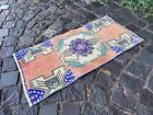 Decor rug, Organic vintage rug, %100 wool handmade, Turkish rug   1,4 x 2,6 ft