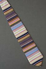 Corcoran The Gallery Collection colorful silk stripe necktie