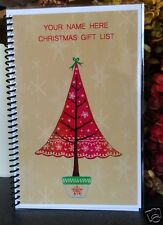 Christmas Gift List Planner Budget Organizer Book Personalized Free