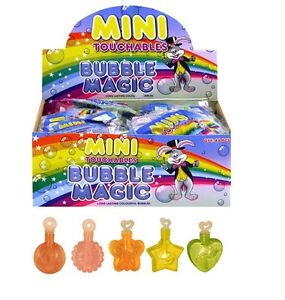 Mini Touchable Bubbles Tubs Magic Colourful Party Bag Filler Summer Outdoors Fun