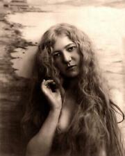 Art Nouveau - Woman,Long Hair Bare Shoulders c.1900s-Fitz W. Guerin 8x10 Reprint