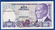 TURKEY BANKNOTES, 1000 LIRA 1970, J SERIAL, BIN TURK LIRASI !