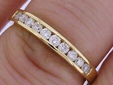R165 Genuine SOLID 18ct 18K Gold NATURAL Diamond ETERNITY Wedding Ring size M