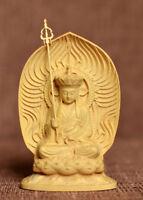 China Handwork Carving Tibet Buddhism Ksitigarbha Bodhisattva Buddha Statue
