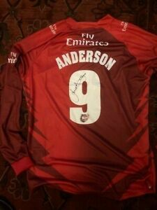 Match Issue Lancashire Shirt hand signed James Anderson